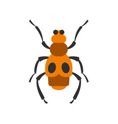 spotted bug icon flat style vector image vector image