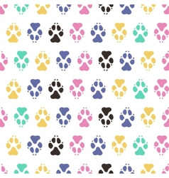 Traces dogs seamless pattern vector image vector image