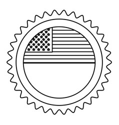 United states of america emblematic seal vector