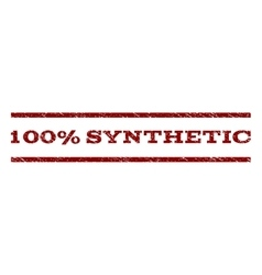 100 Percent Synthetic Watermark Stamp vector image vector image