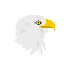 Bald eagle icon in flat style vector image