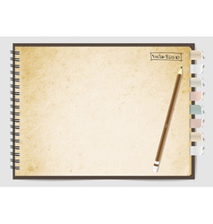 Old brown paper notebook vector