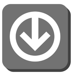 Direction down rounded square icon vector