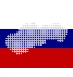 map and flag of Slovakia vector image