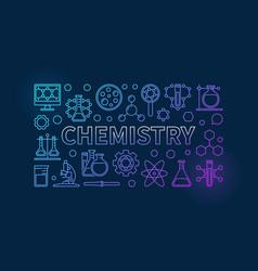 Chemistry outline background vector