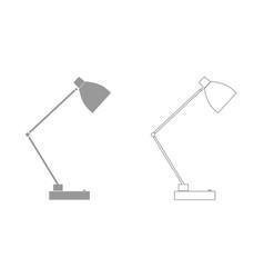 Lamp grey set icon vector