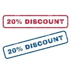 20 percent discount rubber stamps vector