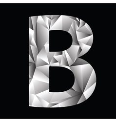 Crystal letter b vector