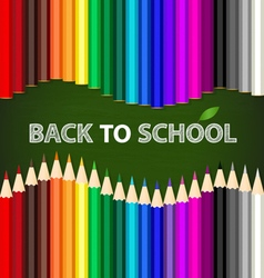 Welcome back to school with color pencils vector