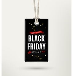 Black friday sale tag label vector
