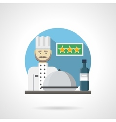 Hotel restaurant detailed flat color icon vector