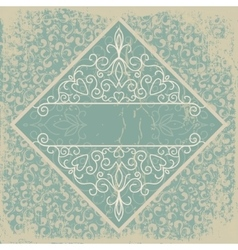 Old paper with a beautiful pattern vintage vector
