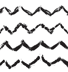 Zigzag handdrawn trendy seamless pattern vector