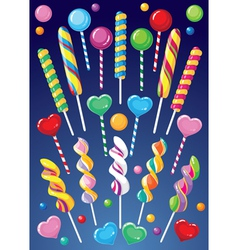 Lollipops set vector