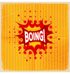 Cartoon blast boing vector