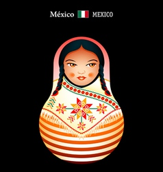 Matryoshka mexico vector