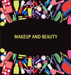 All makeup and beauty background of makeup and bea vector