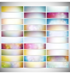 Big Abstract Colored Backgrounds Set Modern vector image