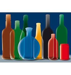 bottles background vector image vector image