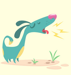 cartoon pinscher dog vector image