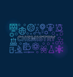 chemistry outline background vector image vector image