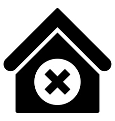 Delete building flat icon vector