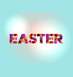 Easter concept colorful word art vector