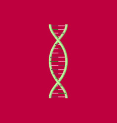 flat shading style icon dna vector image vector image