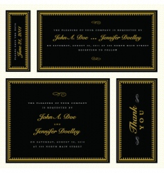 gold ornate frame set vector image vector image