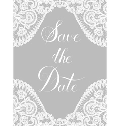 Lace border on gray background vector