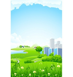 landscape city vector image vector image