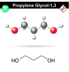 Propylene glycol 13 organic chemical vector