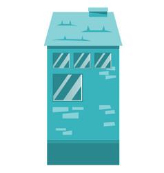 residential building cartoon vector image vector image