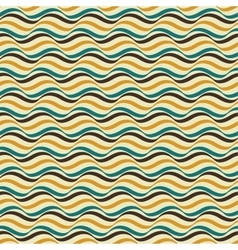 Retro seamless wavy pattern vector image