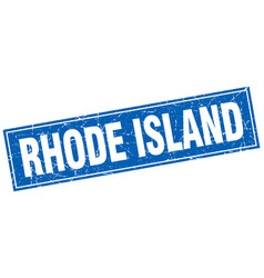 Rhode island blue square grunge vintage isolated vector