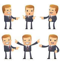 set of advisor character in different poses vector image vector image