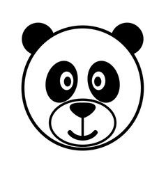 simple cartoon of a cute panda vector image vector image