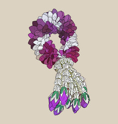 tha tradition garland flower vector image vector image