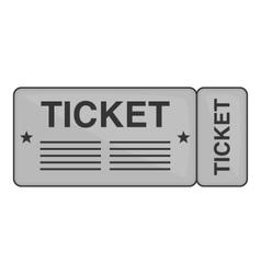 Train ticket icon black monochrome style vector image vector image