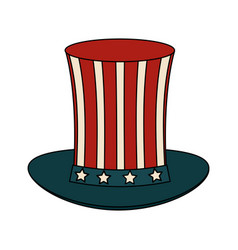 usa sam uncle hat vector image vector image