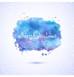 watercolor background Christmas vector image