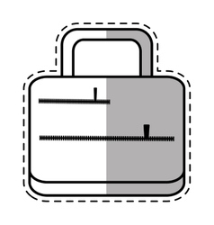 Suitcase travel equipment shadow vector