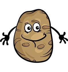 cute potato vegetable cartoon vector image