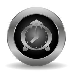 Metal alarm clock button vector image