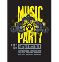 Musical party vector