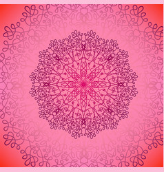 pink circle lace ornament vector image