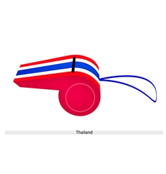 Red white and blue stripe on thai whistle vector
