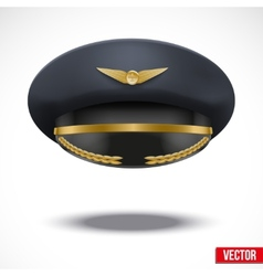 Aviator peaked cap of the pilot vector