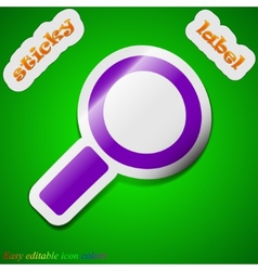 Magnifier glass icon sign symbol chic colored vector