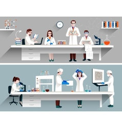 Scientists In Lab Concept vector image